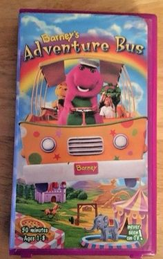 Barney ADVENTURE BUS VHS Child Toddler 1-8 Video Education NEVER SEEN ON TV