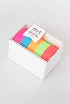Lovely bright washi tape...  Buy MT Japanese Masking Tape - Gift Box - Five Rolls - Neon - NoteMaker Stationery