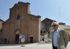 earthquake in Italy | Mirandola's Cathedral near Modena