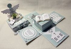 Diy Inspiration, Exploding Boxes, Stamping Up, Communion, Holi, Cardmaking, Presents, Templates, Handmade