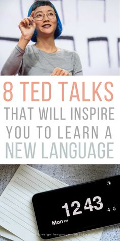 Looking for new inspiration? These 8 TED Talks will surely leave you itching to start learning a new language. Learning Languages Tips, Learning Websites, Learn Languages, Learn German, Learn French, Learn English, Korean Language Learning, Learning Spanish, Foreign Language