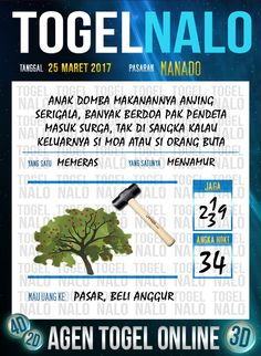 Kode Jitu 2D Togel Wap Online TogelNalo Manado 25 Maret 2017