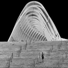 Under the arc of Santiago Calatrava by Yannis Prappas on Fotoblur | Architecture Photography