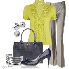 outfits for work- for bright colorful days