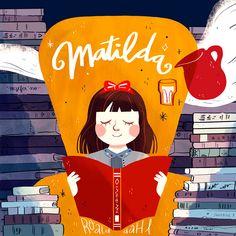Illustrations, Book Illustration, Graphic Design Illustration, Matilda Movie, Matilda Quotes, Arte Disney, Story Instagram, Roald Dahl, Visual Development