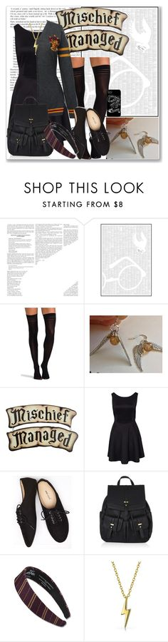 """Harry Potter Fall Outfit"" by forever-inspired ❤ liked on Polyvore featuring Spineless Classics, Pretty Polly, Wet Seal, Accessorize and Bling Jewelry"