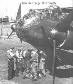 Junkers Ju 188 , the nose  & crew
