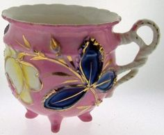 RS Prussia Pink Footed Compote Cup Germany Steeple by BaysideBetty,