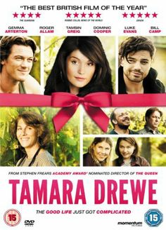"""""""Tamara Drewe"""", Journalist Tamara Drewe (Gemma Arterton) returns to the small town she grew up in and causes a stir. A writers' colony with Tamsin Greig from """"Friday NIght Dinner"""". Funny relations between two girls. Top Movies, Movies And Tv Shows, Tamara Drewe, Tamsin Greig, Roger Allam, Jessica Barden, Posters Uk, Movie Posters, Movies To Watch Online"""