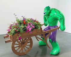 #JeffKoons Hulk with Wheelbarrow, 2004-2013 | Follow #JeffKoonsArt on #Pinterest, curated by #JKLFA | http://pinterest.com/jklfa/jeff-koons-art/