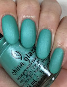 ehmkay nails: China Glaze Seas and Greetings, Swatches and Review. China Glaze Partridge in a Palm Tree