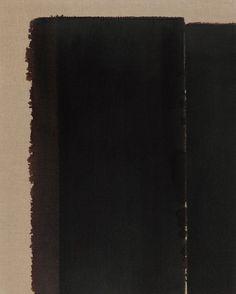 abstrakshun:  Hyong-Keun Yun Burnt Umber & Ultramarine Blue - 1996 PKM GALLERY