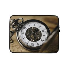 This lightweight, form-fitting Clock 3179167 Laptop Sleeve is a must-have for any laptop owner on the go. Hat Embroidery Machine, Poly Bags, Sleeve Designs, Laptop Case, Order Prints, Laptop Sleeves, Biodegradable Products, Bubbles, Clock