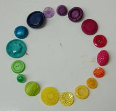 Vintage button color wheel.