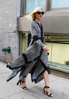 Jane Keltner de Valle spotted on the street at New York Fashion Week. Photographed by Phil Oh.
