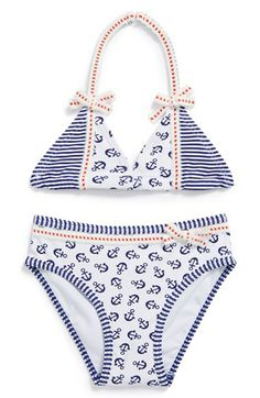 Hula Star 'Anchored' Two-Piece Swimsuit (Little Girls) available at #Nordstrom
