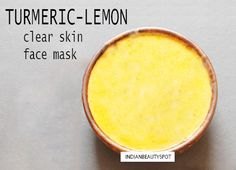 Get Glowing, Radiant Skin with natural face masks - ♥ IndianBeautySpot.Com ♥ #turmeric #facemask
