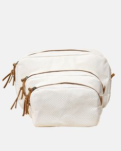 Uashmama+Perforated+Cosmetic+Bag+in+White