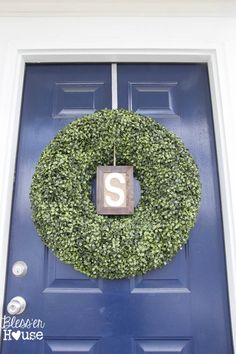 Freshened up your spring porch with a Boxwood Wreath
