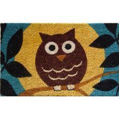 "Amazon.com: Wise Owl Hand Made Coir Doormat 18"" x 30"": Home & Kitchen"