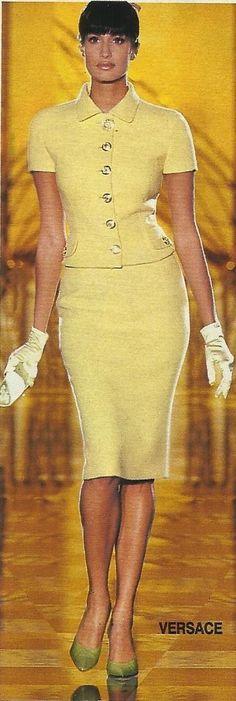 yasmeen ghauri for Versace, mid '90s #VintageVersace