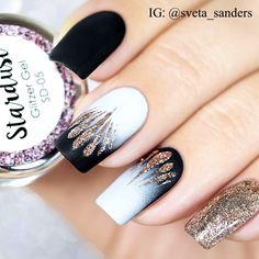 "tutorial - Sveta Sanders (@sveta_sanders) on Instagram: ""All products I used are from @trendnails_international : Stardust Glitter Gel SD-06 Roségold…"""