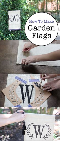 Garden flags so cute you'll be so happy they are easy to make! http://www.ehow.com/how_5780541_make-garden-flags.html?utm_source=pinterest.com&utm_medium=referral&utm_content=freestyle&utm_campaign=fanpage