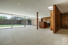 Stunning 1955 midcentury modern house in Fort Worth - built by the Brandt family - Retro Renovation