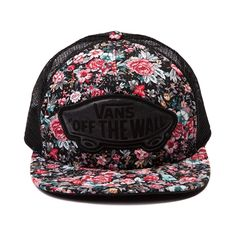 Shop for Vans Floral Beach Trucker Hat in Black at Journeys Shoes. Shop today for the hottest brands in mens shoes and womens shoes at Journeys.com.Snapback trucker hat from Vans featuring vintage floral print with stylish black contrast and classic Vans off the wall patch logo. Mesh back with rear snap adjustment. Available for shipment in July; pre-order yours today!