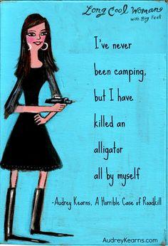 A Horrible Case of #Roadkill, Audrey Kearns. #alligator