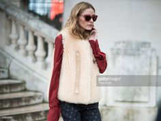 Olivia Palermo seen after the Chloe show in the streets of Paris during the Paris Fashion Week Womenswear Fall/Winter 2016/2017 on March 3, 2016 in Paris, France.