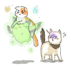 Iggycat and flying mint bunny scare americat!