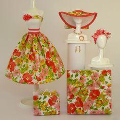 OOAK Handmade Vintage Barbie/Silkstone Fashion by Roxy-  FLORA
