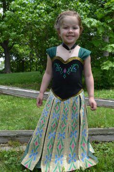 Frozen Princess Anna Inspired Coronation Dress PDF by mlwozniak Anna Frozen, Frozen Princess, Princess Anna, Disney Frozen, Frozen Outfits, Frozen Dress, Disney Outfits, Anna Costume, Costume Dress