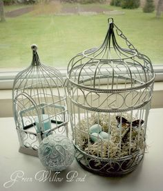 Love the bird cages and the whole table display.