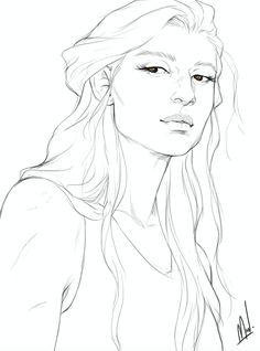 Asterin Blackbeak by merwild. Heir of Fire. Queen of Shadows. Empire of Storms. Sarah J Maas