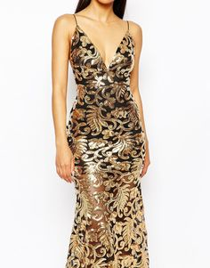 Image 3 of Club L Showstopper Open Back Sequin Maxi Dress With Fishtail
