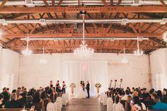 Bright, White, Urban Warehouse Wedding Ceremony in Phoenix, Arizona at The Croft Downtown. Social Events, Corporate Events, Wedding Ceremony, Wedding Venues, Downtown Phoenix, Warehouse Wedding, Phoenix Arizona, Wedding Inspiration, Bright
