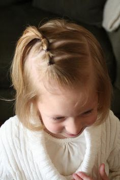 Started doing this style to my daughter's hair....helps is stay back better that just a little pony tail.  Her hair is really fine.