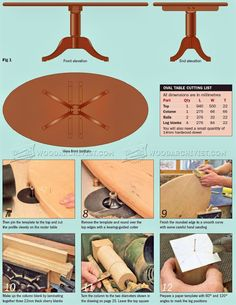 Oval Coffee table Plans - Furniture Plans