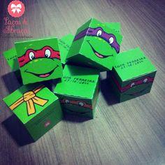 Caixinhas Personalizadas - Tartarugas Ninja