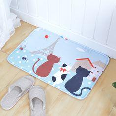Honest Doormat Cute Animals Cat Printed Welcome Floor Mats Bathroom Kitchen Carpets Doormats Dog Mat For Living Room Anti-slip Tapete Home Textile Carpets & Rugs