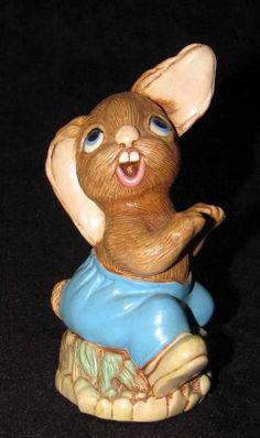 Pendelfin The Thumper Stone Craft England Bunny Rabbit Figurine