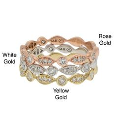 @Overstock.com - Beverly Hills Charm 14k Gold 1/4ct TDW Diamond Stackable Band (H-I, I1) - Round-cut white diamond stackable band14-karat yellow, white or rose gold jewelryClick here for ring sizing guide  http://www.overstock.com/Jewelry-Watches/Beverly-Hills-Charm-14k-Gold-1-4ct-TDW-Diamond-Stackable-Band-H-I-I1/8177691/product.html?CID=214117 $359.99