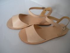 Handmade leather sandals. I can imagine myself wearing this. SO comfy-looking!