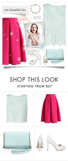 """""""FIFTY FIFTY #4"""" by paradiselemonade ❤ liked on Polyvore featuring Miss Selfridge, Chicwish, Kate Spade and Cielle London"""
