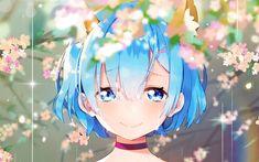 Sad Anime Girl, I Love Anime, Anime Art Girl, All Anime, Manga Anime, Anime Girls, Girl Blue Hair, Anime Blue Hair, Anime Wallpaper 1920x1080