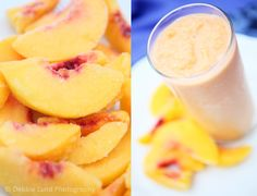 peach smoothy, peaches and cream, trim healthy mama, healthy, food, photography