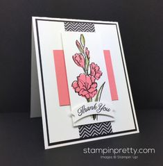 Gift of Love & Duet Banner Punch thank you card created by Mary Fish, Stampin' Up! Demonstrator.  1000+ StampinUp & SUO card ideas.  Read more http://stampinpretty.com/2016/05/gift-of-love-watercoloring-more-peeks.html