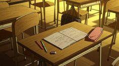 """The wonderful art that hides the mysterious Japanese anime """"氷菓 Hyouka"""" HELL IT Here! Episode Interactive Backgrounds, Episode Backgrounds, Aesthetic Backgrounds, Aesthetic Wallpapers, Aesthetic Art, Aesthetic Anime, She And Her Cat, Anime Classroom, Casa Anime"""